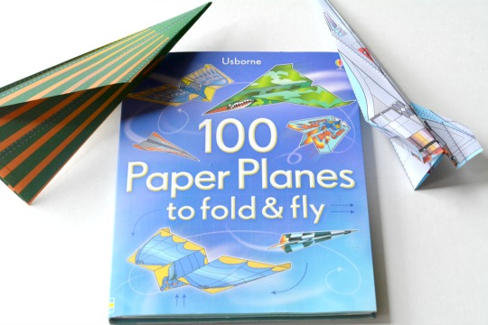 A great paper airplane book full of paper and directions.