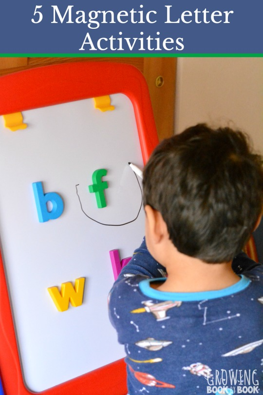 Magnetic letter activities are a great way to build letter recognition, letters sounds and spelling. Check out these 5 super fun activities.