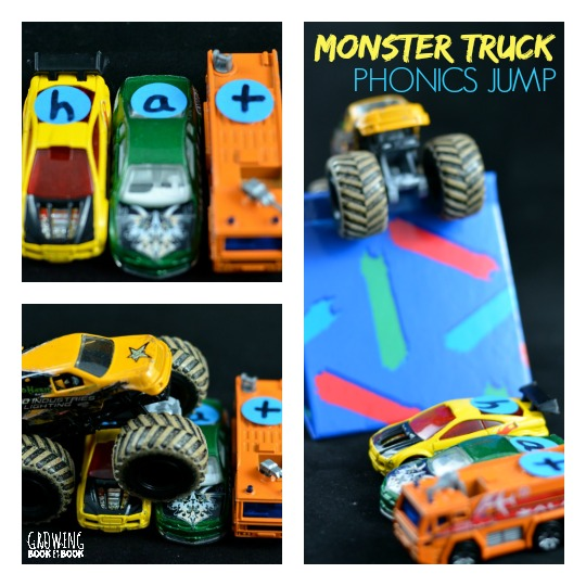 Calling all car and truck lovers! Practice those phonics skills with this fun active Monster Truck Phonics Jump. Kids will enjoy building their own monster truck jumps and you'll love that they are working on letter sound relationships.