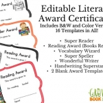 Grab this free super reader printable certificate that is perfect for award day or graduation ceremony. Best of all the certificate is editable.