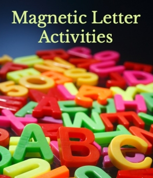 ABC magnets to build literacy skills