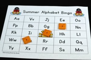 End the school year with a fun activity that also builds alphabet recognition. Or, play alphabet bingo during summer school, summer camp, or with the kids during summer vacation.