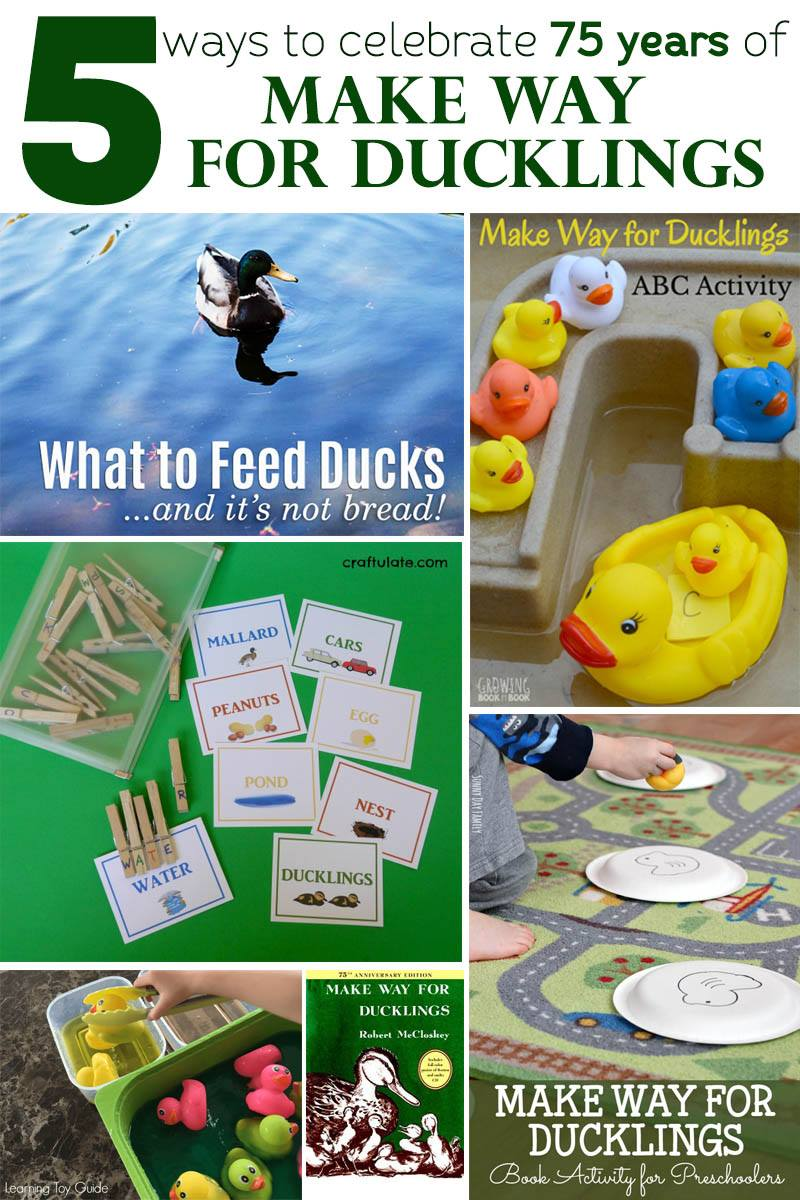 5 ways to celebrate Make Way for Ducklings including science ideas, an alphabet activity, gross motor idea, spelling tips and more.