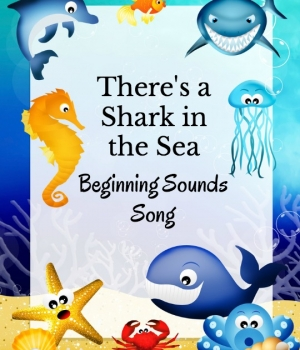 Whether you are doing an ocean themed unit or a shark week activity, this shark beginning sounds song is perfect for building phonological awareness.