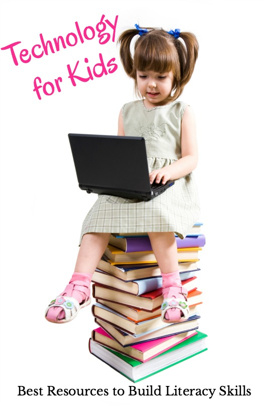 The technology for kids resources to build literacy skills!  Get the best apps, music, YouTube videos, audiobooks for kids and more in this ultimate list of resources.