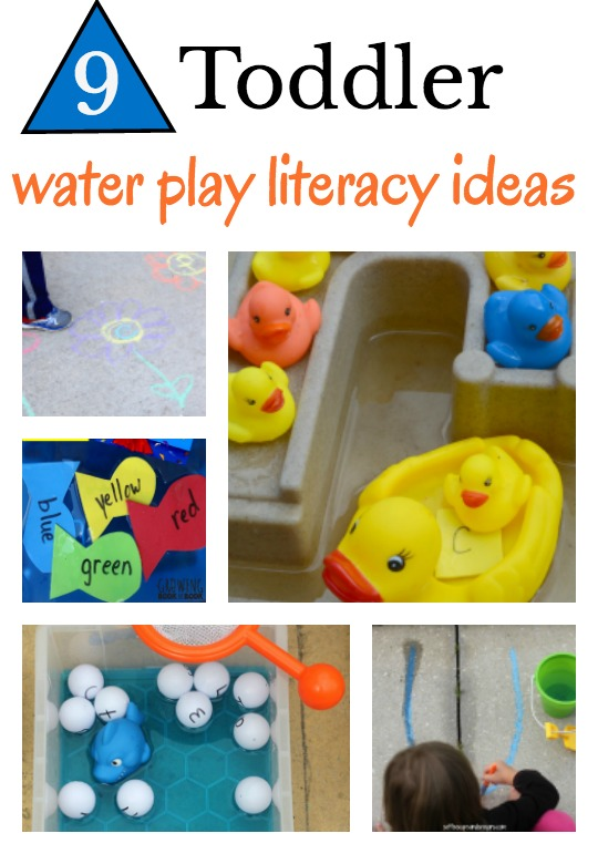 9 toddler water play literacy ideas