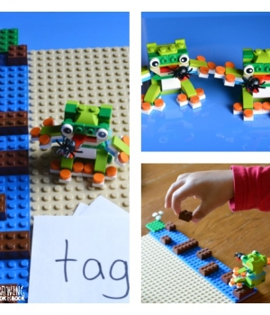 Lego Phonics Game activity for beginning readers