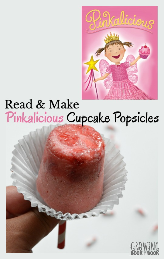 Read Pinkalicious and then get in the kitchen with the kids to make Pinkalicious Cupcake Popsicles for a healthy snack. Perfect for a Pinkalicious party.