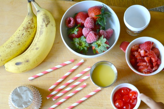 ingredients for Pinkalicious popsicle cupcakes