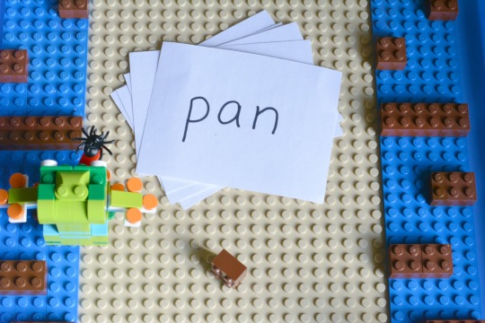 how to set up a phonics Lego activity