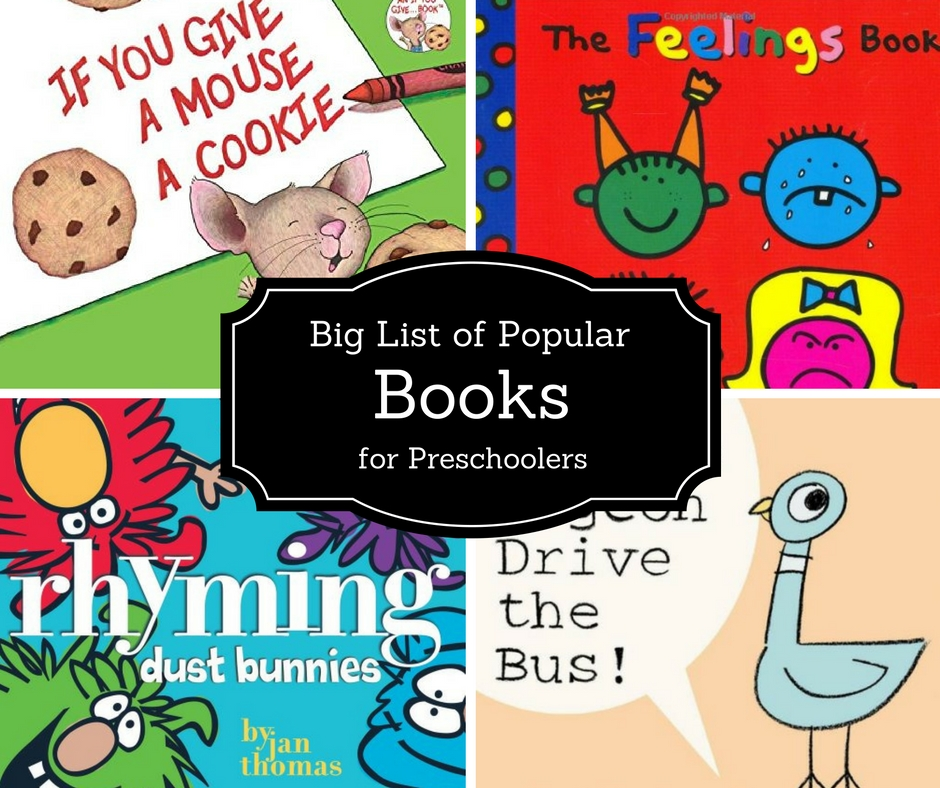 Giant List Of Popular Preschool Books