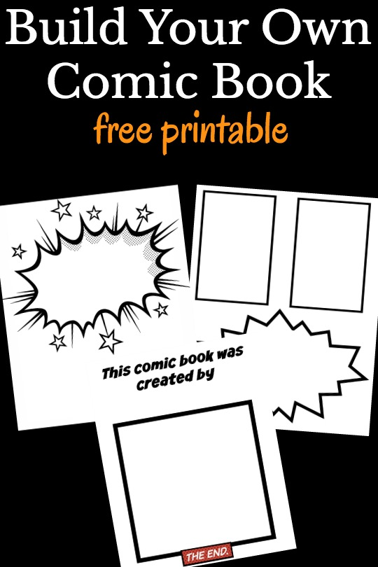 Make Your Own Book Cover Craft ~ Cool comic book templates for kids