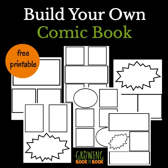 Printable Book Cover Creator : Cool comic book templates for kids