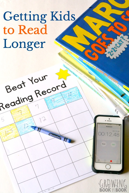 An easy reading tip for getting kids to read longer and stay motivated to read.