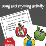 Sing and play All Around the Alphabet Tree song to build rhyming skills. Perfect for an apple theme unit study.