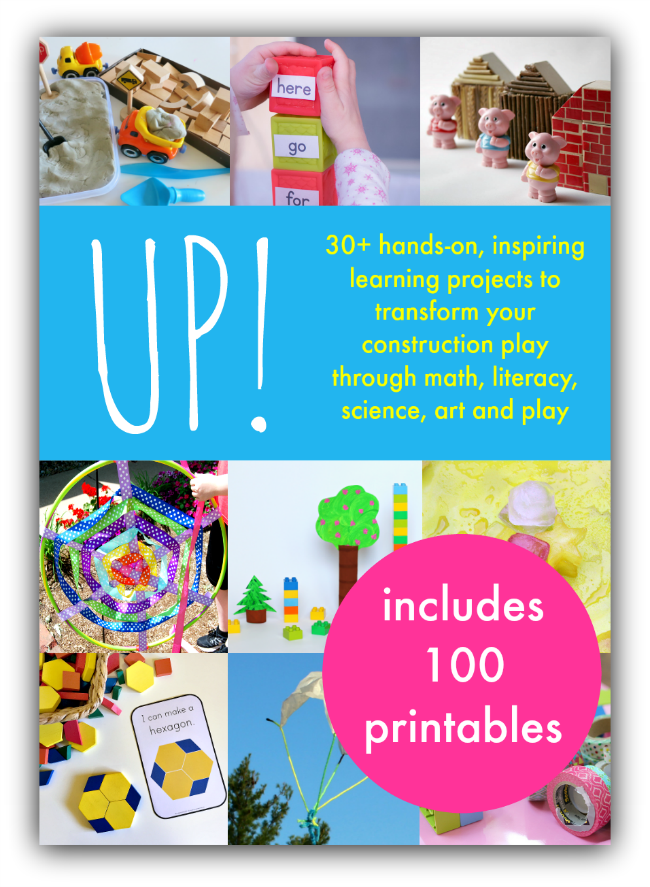 Grab your copy of Up! which is perfect for kids who love to build and create. Includes literacy activities, math ideas, science challenges, and more!