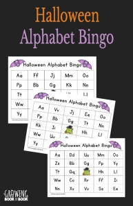 Halloween Alphabet Bingo is perfect for Halloween parties and play dates to work on ABC recognition.