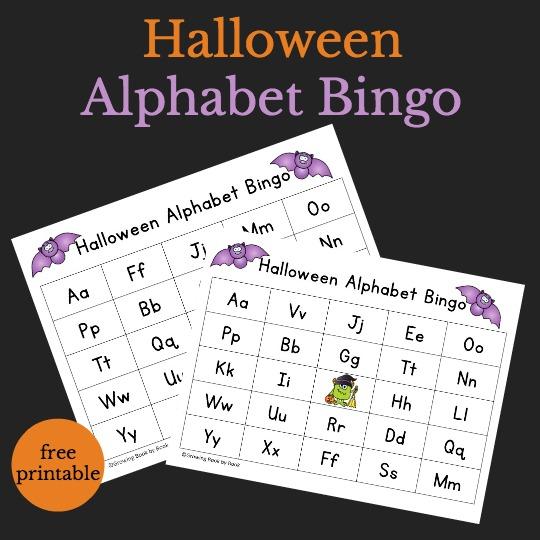 image relating to Halloween Bingo Free Printable identified as Halloween Alphabet Bingo