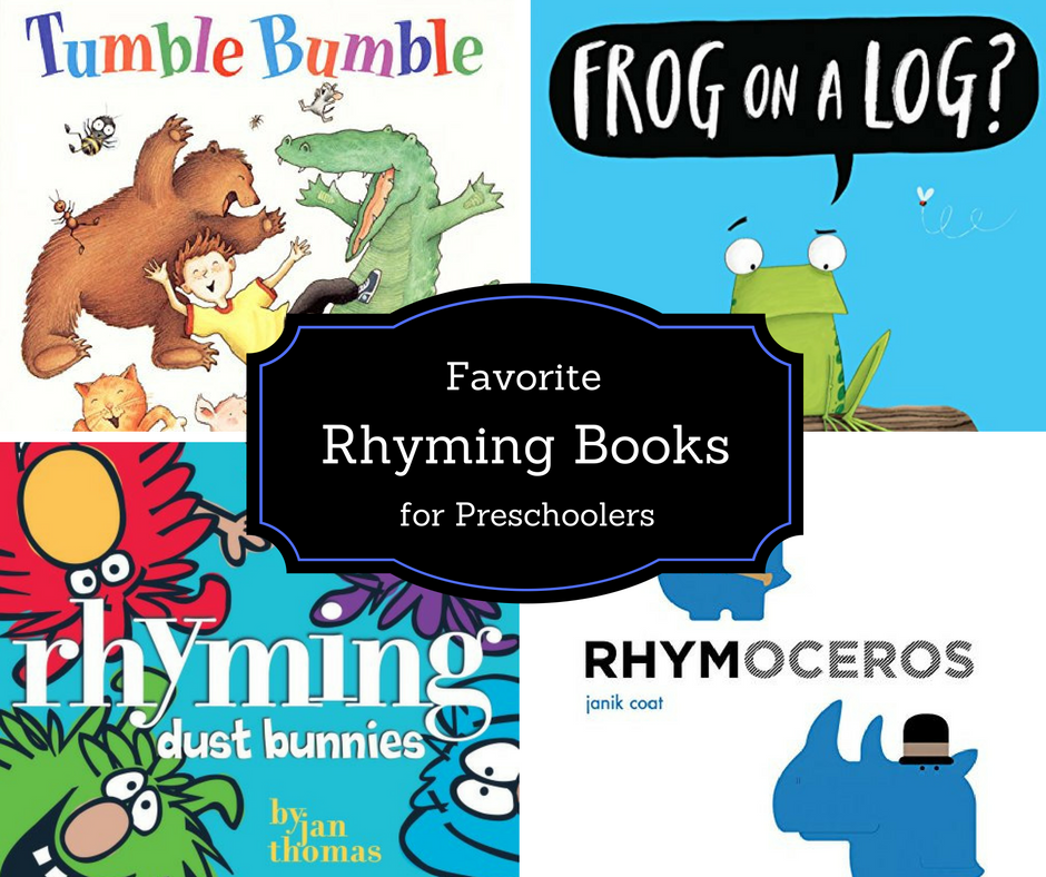 Favorite rhyme books for preschoolers to build phonological awareness.