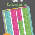 An awesome book list of must read books to kids before they go to Kindergarten.