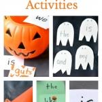 5 easy to prep Halloween sight word activities for beginning readers.