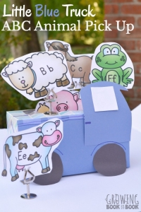 An alphabet activity to do after reading Little Blue Truck.