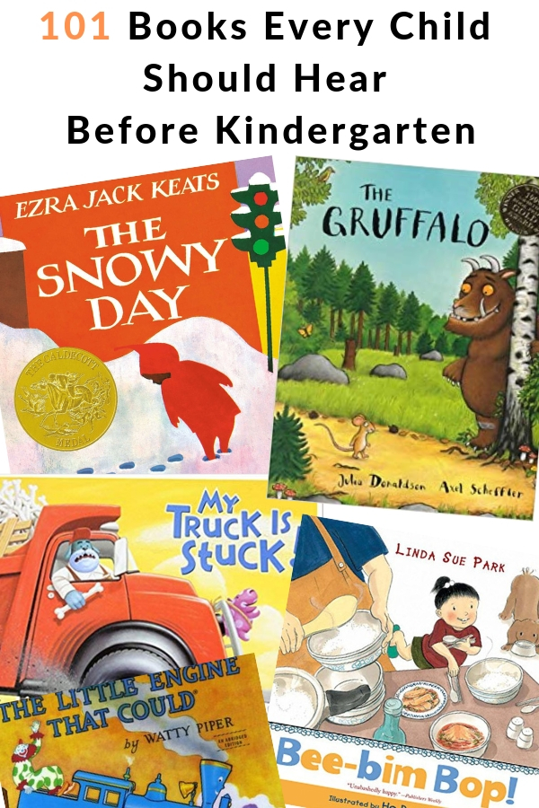 books to read with babies, toddlers, and preschoolers before they get to kindergarten