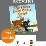 Unit study for The Three Billy Goats Gruff full of hands-on activities for preschoolers and kindergarteners.