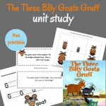 A unit study for The Three Billy Goats Gruff for preschoolers and kindergarteners.