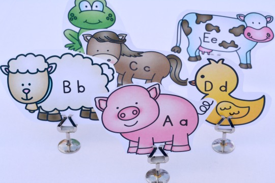 ABC farm animals to use with the Little Blue Truck book related activity.