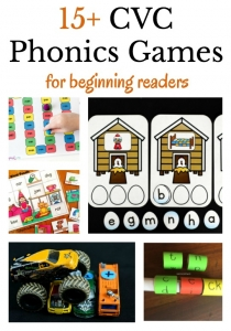 A collection of hands-on cvc phonics activities to play with beginning readers.