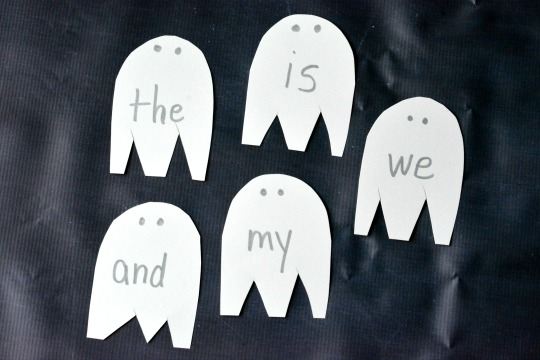 Grab the flashlight for this Halloween activity for beginning readers