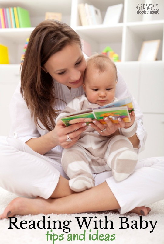 Tips and resources for building literacy skills with babies. Including books to read to baby.