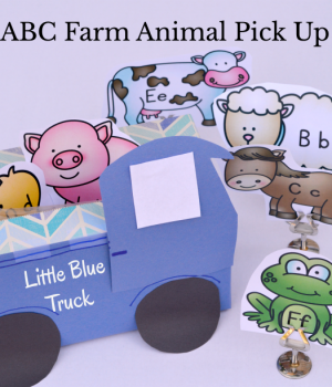 An ABC activity to do after reading Little Blue Truck.