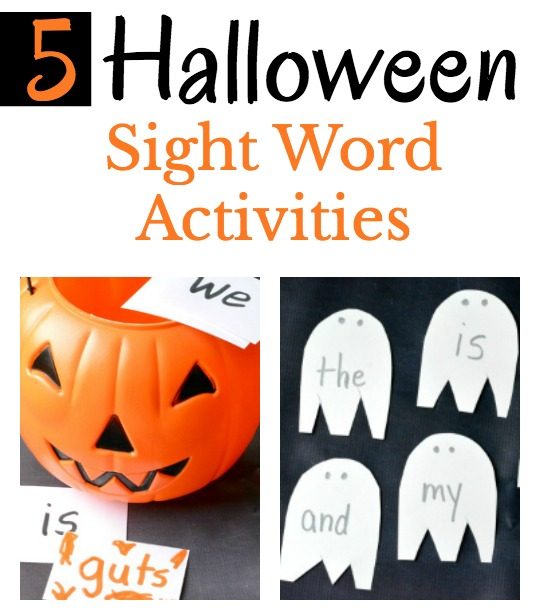 Easy to prepare Halloween sight word activities for beginning readers.
