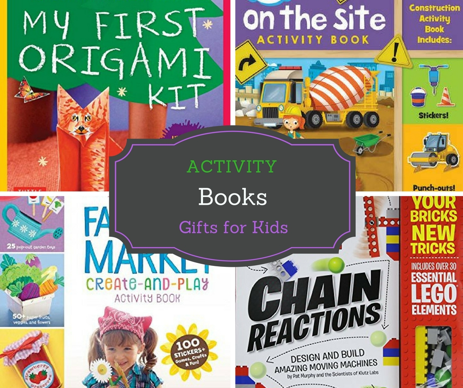 Activity books make great gift ideas for kids. Perfect for holiday gifts or birthday presents.