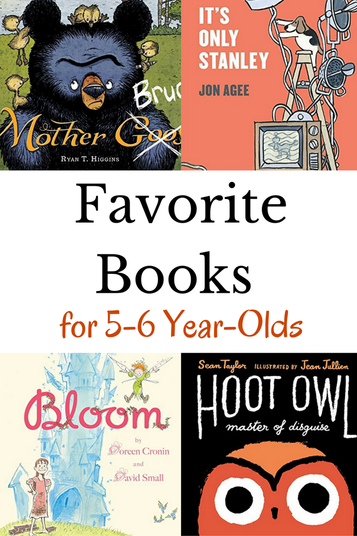 Favorite books for 5 year-olds. A book list that will young kids will love!