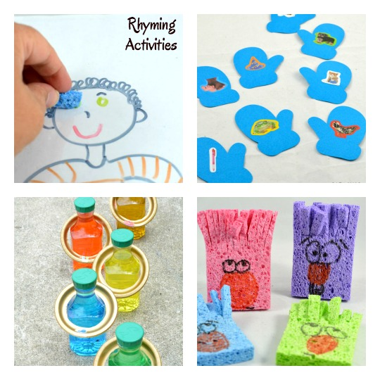 Rhyming games and activities to help preschoolers, kindergarteners, and any child who needs help developing phonological awareness.