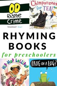 rhyme books for preschoolers and kindergarteners