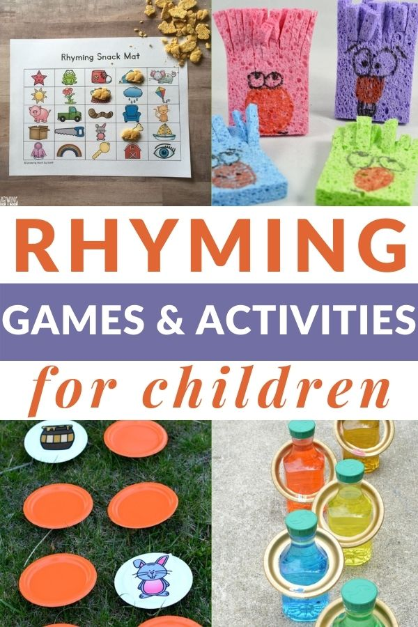 games and activities for teaching rhyming
