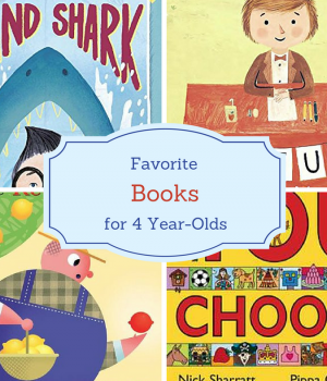 14 favorite books for 4 year-olds that they will beg for time and time again. A great book list to keep handy.