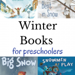 Some of the coolest winter books for preschoolers including newly released books, classic books, kid favorites, and books about snowmen.