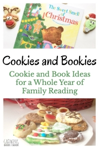 Start a new family reading ritual. Hold a monthly Bookies and Cookies day with the kids. It's cookie baking paired with themed book reading. There is an idea for every month.