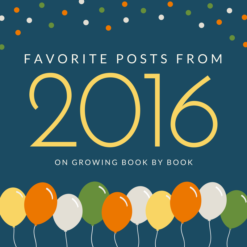 Don't miss the most popular posts of 2016 from Growing Book by Book.