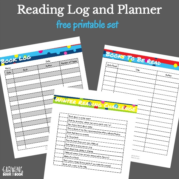 photograph about Book Log Printable called No cost Printable Looking through Log and Planner