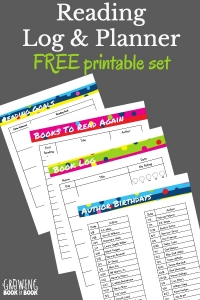 Grab this free printable reading log and planner. It has book logs, reading goal sheet, author birthday list, literacy celebrations, reading challenges, and so much more!