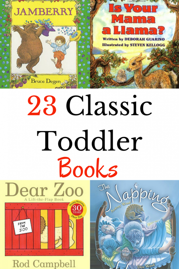 A great list of classic toddler books to enjoy reading aloud to little ones.