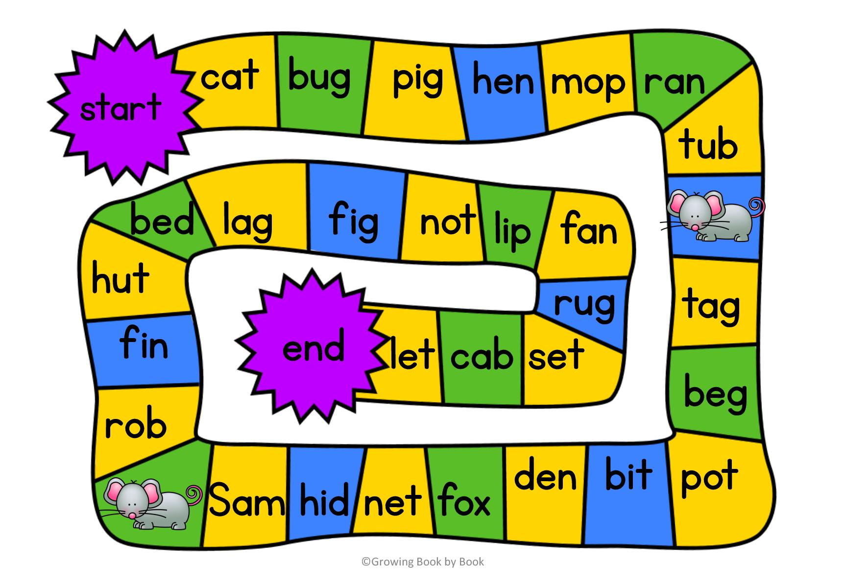 picture relating to Printable Word Games known as 3 Absolutely free Printable CVC Term Game titles
