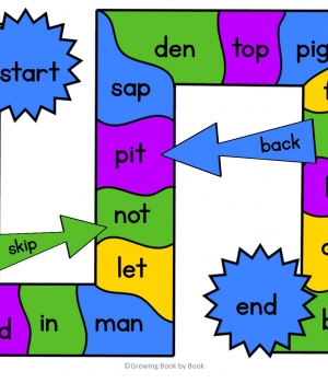 skip and back phonics game