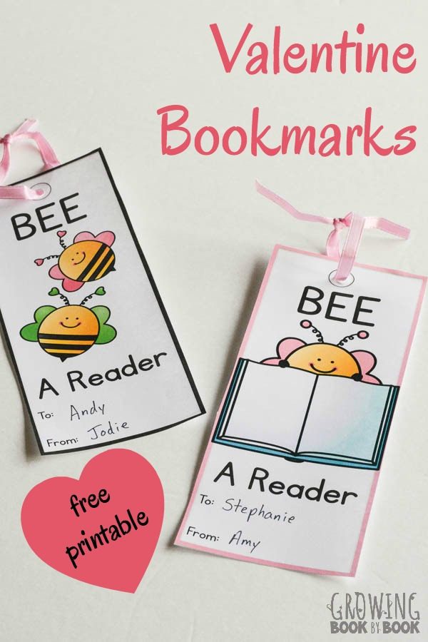 Print your free valentine bookmarks for a great holiday gift.